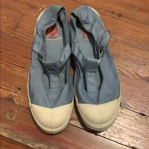 Vintage t-strap baby blue French bensimons.